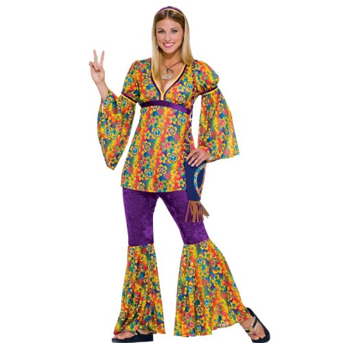 Forum Novelties Women's 60's Generation Hippie Purple Haze Flower Power Costume