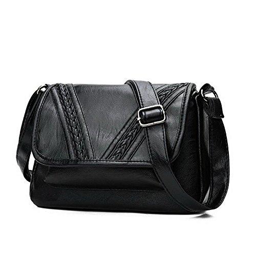 Achats bandoulière Sacs Cartable Femme Noir à Noir AalarDom TSFBH181246 à Cuir Pu Sacs bandoulière f04q8Yv