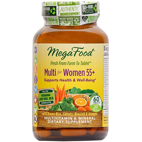 MegaFood – Multi for Women 55+, A Balanced Whole Food Multivitamin, 60 Tablets (FFP)