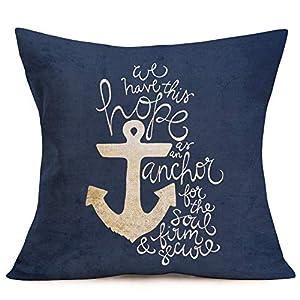 51ZFR1GuNNL._SS300_ 100+ Nautical Pillows & Nautical Pillow Covers