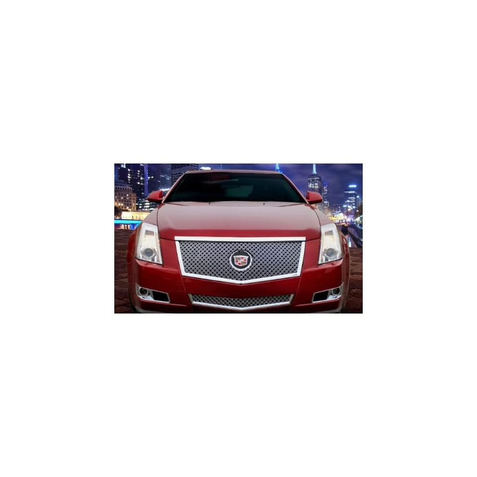 2008 2011 Cadillac CTS Coupe & Sedan Classic Chrome Dual Weave Mesh Grille Grill