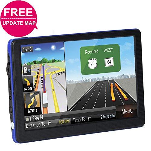"Car GPS Navigation System, TSWA Free Lifetime Map Update GPS Navigation for car,SAT NAV, 7"" HD GPS Navigator, Vehicle GPS Navigation with USB Cable and Car Charger & Mount by TSWA"
