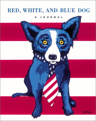 red white and blue dog a journal