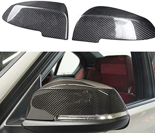 Iycorish Car Side Mirror Cover Fiber Mirror Cover Caps Carbon Look For BMW F10 F11 520 523 535 530 2014-2017 51167308683 51167308684