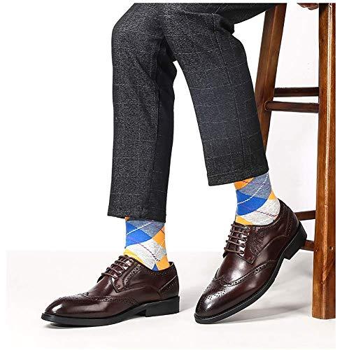 uomo 8 Scarpe 8 per nero mocassini in uomo casual 5 pelle uomo Nero appuntite brogue colore da 7 Dimensione 9 US pizzo US Colore UK 5 5 UK Marrone 5 in misura HhGold da EqdAq