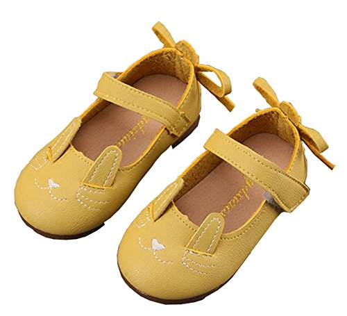 Cystyle Mädchen Cartoon Katze Prinzessin Schuhe, Baby Karikatur Katzen Mode Rutschfeste Weiche Schuhe Prinzessin Sneaker Gelb