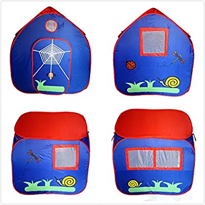 GreEco Kids Pop Up Tent, Play House Tent, 4 X 3.45 X 3.45 Feet, Blue: Toys & Games