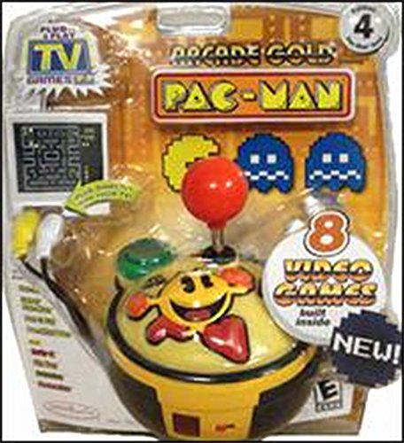 PAC-MAN Gold Edition #4 Namco Collection of 8 Classic Arcade Games - Plug it in & ()
