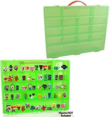 Green Minecraft Compatible Carrying Case, Large Case Holds 100's of Minecraft Minifigs, Great for Minecraft Collectors