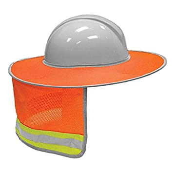 367e4f5c4f4cd ZKADMZ  Sunshade Outdoor Construction Safety Hard Hat Sun Shade Neck Shield  Reflective Stripe Protective Helmets Shield  Amazon.co.uk  Sports   Outdoors