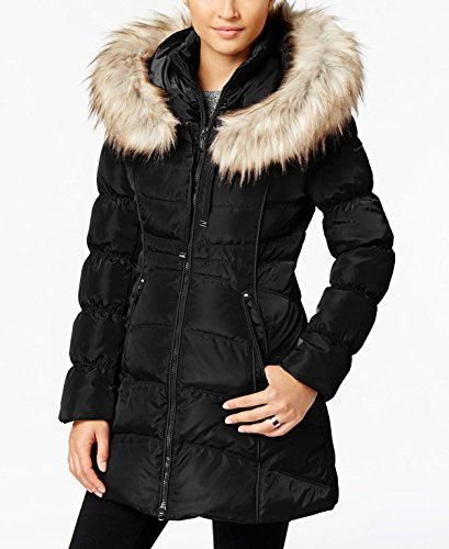 Coat Laundry Quilted (Laundry by Shelli Segal Womens Quilted Down Coat, M, Black)