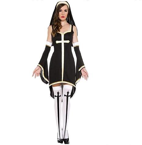 Top Totty - Disfraz Sexy de Monja para Mujer: Amazon.es ...