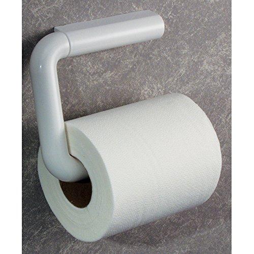InterDesign Wall Mount Toilet Paper Holder for Bathroom - White