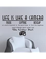 English Camera Living Room Bedroom Wall Stickers