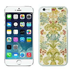 Cheap Silicone White Iphone 6 Case 4.7 Inches Colorful Damask Soft Rubber Cute Phone Cover by supermalls