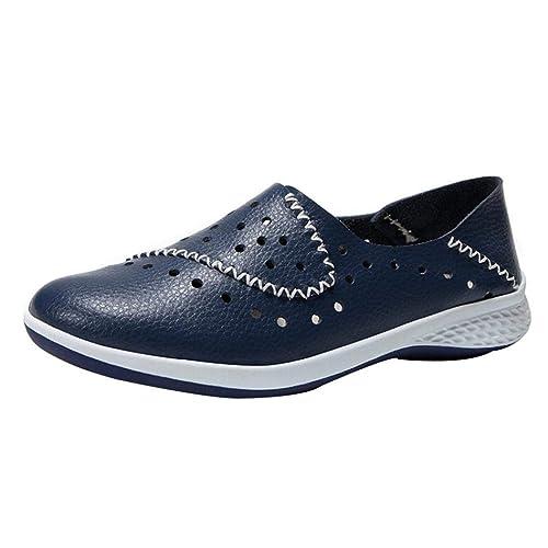 Mocasines Planos Respirable para Mujer, QinMM Zapatos cómodos del otoño del Verano Sandalias Merceditas: Amazon.es: Zapatos y complementos