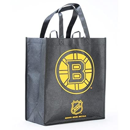 8e59f5572f Image Unavailable. Image not available for. Color  Boston Bruins Printed  Non-Woven Polypropylene Reusable Grocery Tote Bag