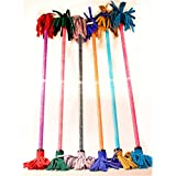 Z-Stix Flower Juggling Stick- Devil Stick- Paisley Series- Choose the Perfect Size (Kids, Purple)