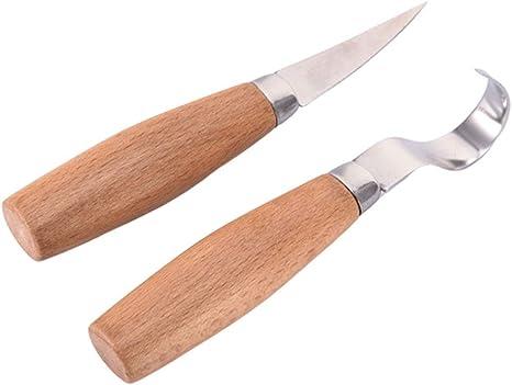 Tazas Kit de Herramientas de Madera de Talla de Madera Set Cuchara Talla Las Herramientas para tallar la Talla de cucharas Mugs HJDQ Cuchillo de Talla de Madera del Juego del Gancho