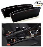 SALE - SkyRox Premium Car Seat Gap Filler and Side Pocket Organizer - STOP DROPPING of Items in Between Seat and Console - PU Leather Catch Caddy - Automobile Storage Interior Car Accessories (2Pcs)