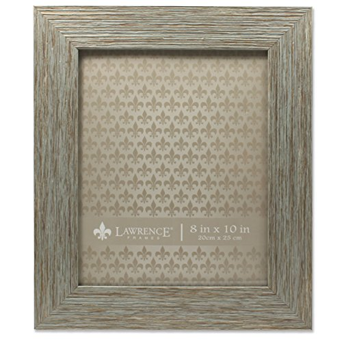 Lawrence Frames Deep Grain Weathered Decorative Picture Frame, 8 x 10'', Gray by Lawrence Frames