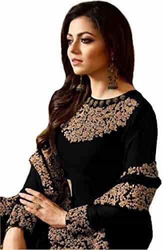 df3a8d5e09 Indian/Pakistani Designer Embroidered Anarkali Style Wear Salwar Kameez Lt  Nitya