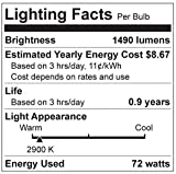 Philips 409821 100 Watt Equivalent Halogen A19 Dimmable Light Bulb, Soft White, 24 Pack