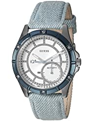 GUESS Womens Stainless Steel Connect Fitness Tracker Denim Watch, Color: Blue (Model: C2002L4)