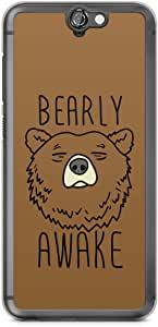 HTC One A9 Transparent Edge Phone Case Bearly Phone Case Sleepy Phone Case Awake A9 Cover with Transparent Frame