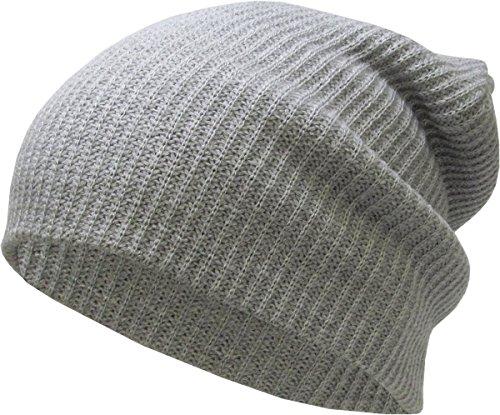 KBW-12 LGY Solid Slouchy Beanie Baggy Style Skull Cap Winter Unisex Ski Hat Style Skull Cap