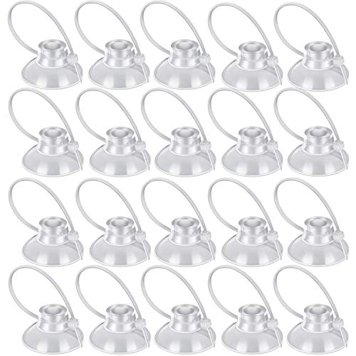 Boao 16 Pieces Fish Tank Suction Cups Aquariums Suction Cup with Adjustable Cable Ties for Binding Moss Shrimp Nest Dodging Nest