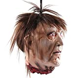 zombie head - Wrightus Halloween Decorations Scary Hanging Severed Head Props,Life-Size Bloody Cut Off Corpse Head Ghost Animated Zombie Head for Haunted Houses Party Decor Funny Festive Supplies