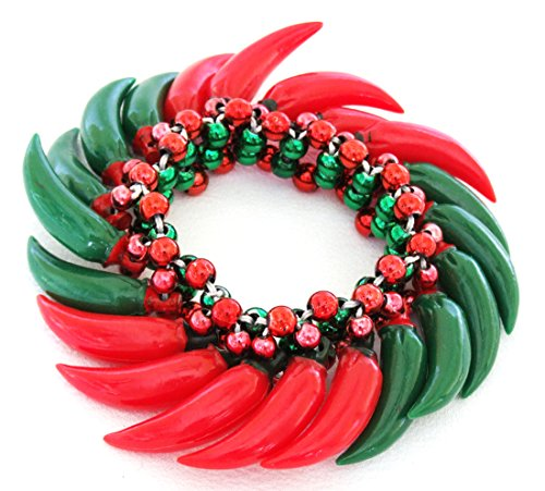 Hot Chili Red & Green Pepper Bracelet Halloween Mardi Gras Cajun Carnival Festival New Orleans -