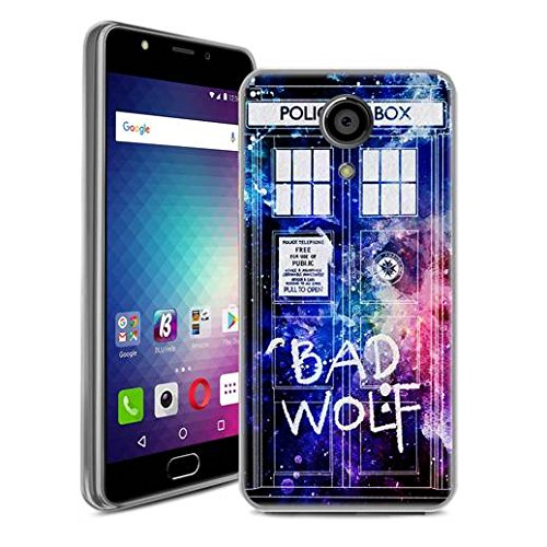 BLU LIFE ONE X2 – 4G LTE Case, SuperbBeast Ultra Thin Slim Crystal Clear Soft Silicone TPU Rubber Protective Cover Case Skin for BLU LIFE ONE X2 4G LTE Smartphone (Bad Wolf Doctor Who)