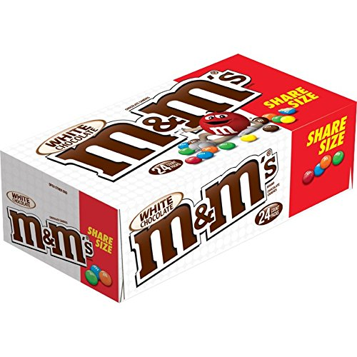 M&M's Share Size Candy, White Chocolate, 2.47 Ounce