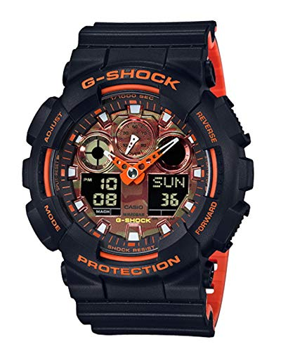 G-Shock Men's GA-100BR-1ACR Black One Size