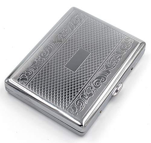 estuche de metal vintage para cigarrillos Silver Linear L