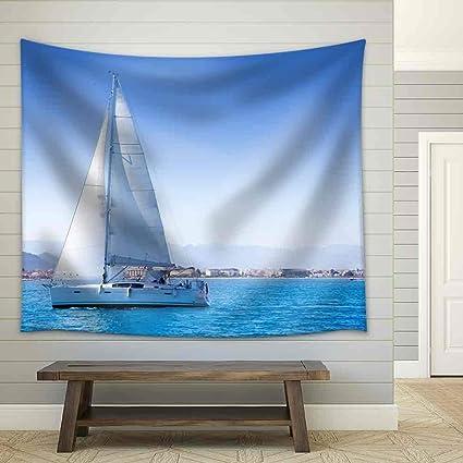 Amazon.com: YGUIRRI Sailboat Sailing in Mediterranean Sea in ...