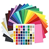 Oracal 651 Glossy Vinyl - 24 Pack of Top Colors - 12'' x 12'' Sheets with 651 Swatch Book