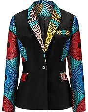 Shenbolen Women African Print Coat Kente Top