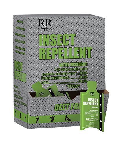 Industrial Insect Repellent Deet-free with active ingredient IR3535. Lotion, Odorless, Packette 50ct