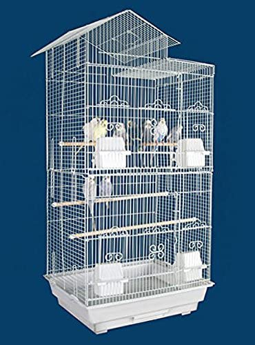 Large 35-Inch Portable Flight Bird Travel Cage for Canary Parakeet Cockatiel Lovebird Finch Bird Cage 18 Length x 14 Depth x 35 Height