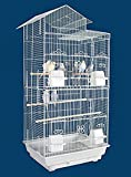 "NEW Tall Large Canary Parakeet Cockatiel LoveBird Finch Bird Cage -- 18"" Length x 14"" Depth x 35"" Height-*Black*"