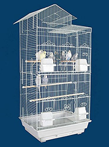 NEW Tall Large Canary Parakeet Cockatiel LoveBird Finch Bird Cage -- 18'' Length x 14'' Depth x 35'' HeightBlack by Mcage