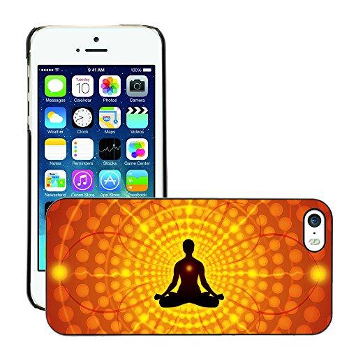 Premio Sottile Slim Cassa Custodia Case Cover Shell // V00001698 méditation // Apple iPhone 5 5S 5G