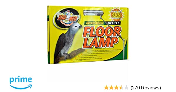 Zoo Med Aviansun Deluxe Floor Lamp Bulb Not Included