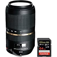 Tamron (AFA005C-700) AF 70-300mm f/4.0-5.6 SP Di VC USD XLD for Canon EOS + Sandisk Extreme PRO SDXC 64GB UHS-1 Memory Card