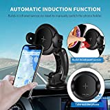 Self-Adjusting Qi Charger & Mount by Indigi - Air Vent/Window Mounts - Quick Charge - 360 Rotation - for iPhone XR/XS / XS Max