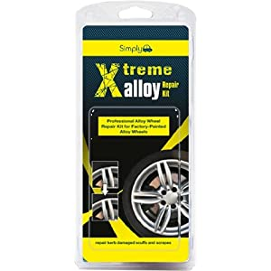 Simply XAWR1 Xtreme Alloy Wheels Repair Kit, Silver, 11 Pieces Set, Repair Kerb Damaged Scuffs and Scrapes with Easy & Full Instruction