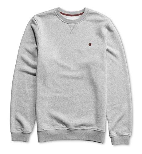 Etnies Men's E Crew Sweater,Small,Grey Heather